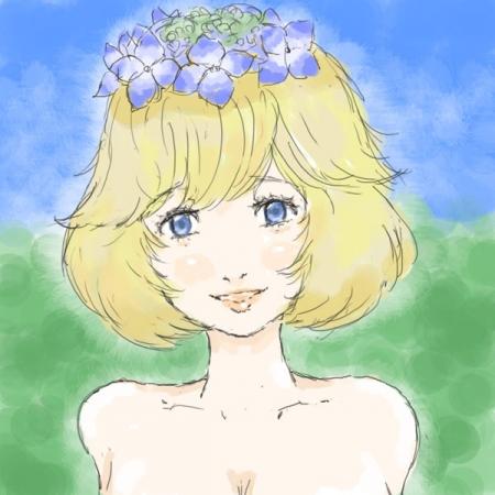額紫陽花ッ娘
