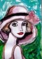 3白い帽子のルイーズベルナール・シャロワ