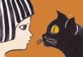 2斉藤清少女と猫