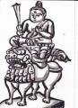 5禅定寺文殊菩薩騎獅像