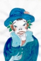 竹久夢二冬の女