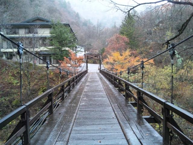 山水観湯川荘の吊橋 (3)