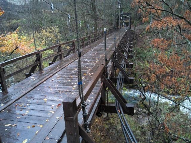山水観湯川荘の吊橋 (5)
