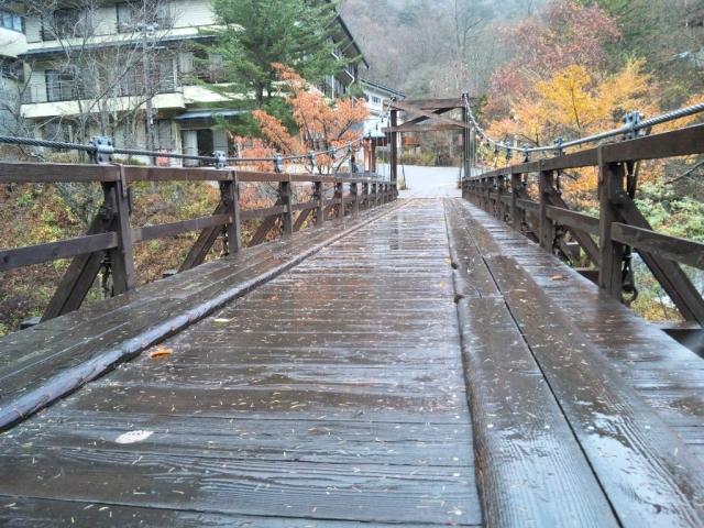山水観湯川荘の吊橋 (6)