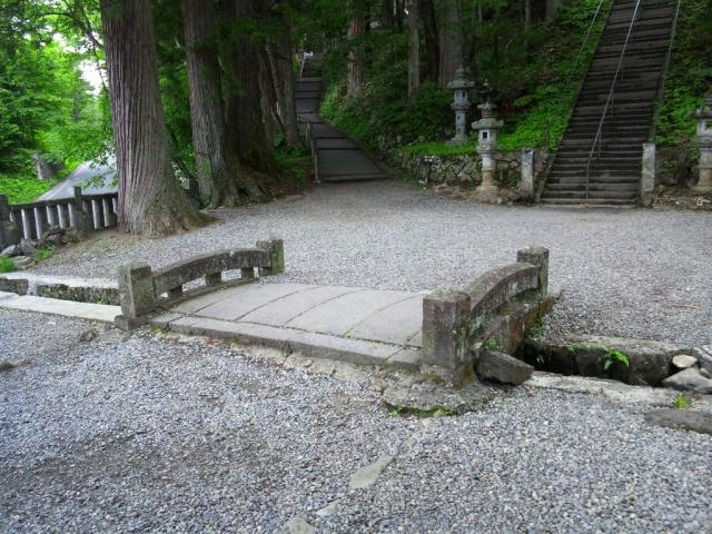 戸隠神社中社の参道橋 (2)