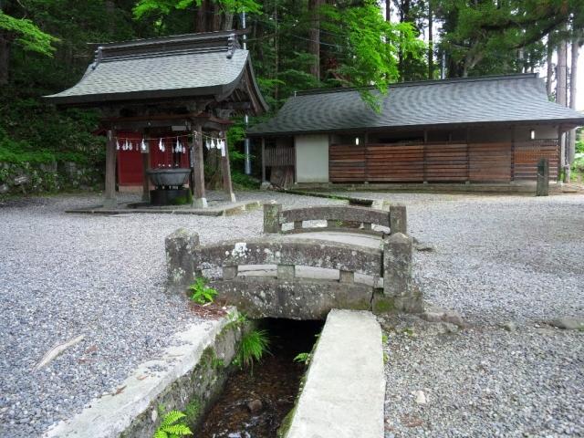 戸隠神社中社の参道橋 (4)