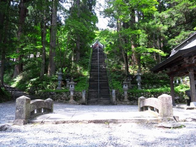 戸隠神社中社の参道橋 (3)