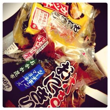日本へお仕事中だったオンニからの差し入れおにぎり^^
