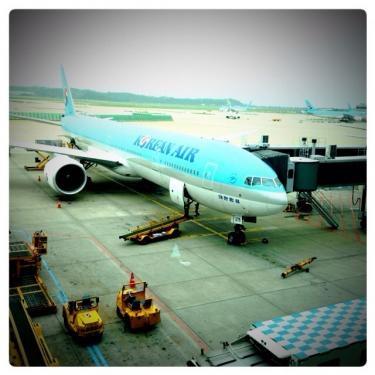 今朝の仁川空港にて。