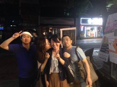 語学研修を終えて日本へ帰国するメンバーも。