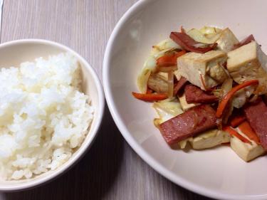 豆腐ちゃんぷる~を韓国で作ってみる。^^