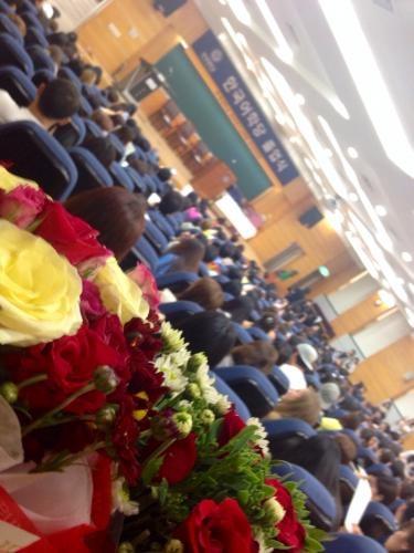 今日は延世大学の語学堂の卒業式。