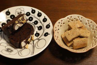 米粉のラムココアパウンド・米粉の塩きなこクッキー