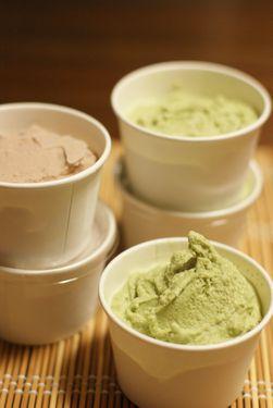 豆乳アイス(小豆・抹茶)