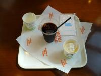 もりもと アイスコーヒーとソフトクリーム