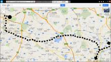 20140412 東山公園から豊田市への図
