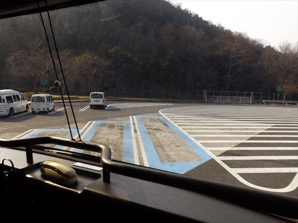 バス用スペースへ
