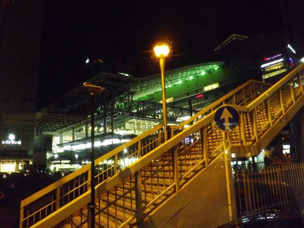 大阪駅が見えてきた