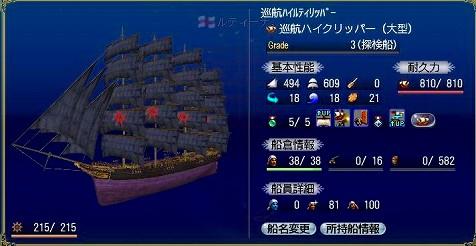 ルティーさんの快速船。巡航ハイクリさん!