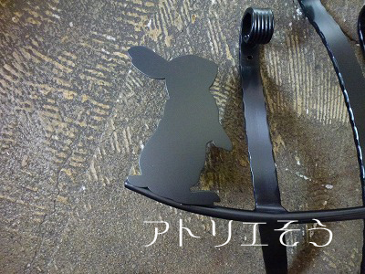オリジナルアルミ妻飾りCタイプ+うさぎ
