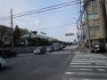 140309松生町で自転車道消失。やむなく最寄りの信号に移動。