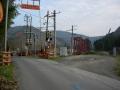 140329裏道で府道19号トンネル回避。船岡の踏切と鉄橋。