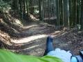 140419鷲峰山林道から金胎寺への道は未舗装に