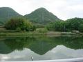140501おにぎり型の山を見ると香川に来たと感じる