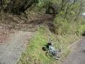 140502大川山。Bianchiを置いて徒歩で登る1