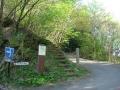 140502大川山。ピーク下の分岐を徳島側へ