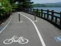 140502満濃池.3、自転車歩行者道