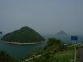 140503五色台スカイライン.5、大崎からの眺望(大槌島、小槌島)