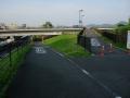 140614近江大橋東詰から自転車歩行者道への分岐