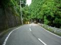140813国道477を前ヶ畑峠へ(狭路区間入り口)