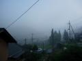 140830花背集落の濃霧