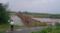 140817先の台風11号で再び流出した流れ橋
