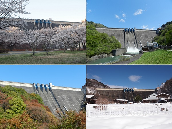 草木ダムの四季