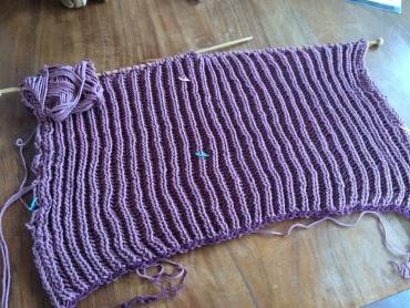 プロ課題イギリスゴム編みラグラン1