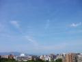 スクランブル飛行機雲