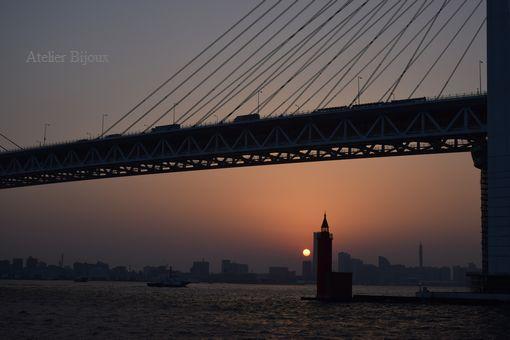 064-赤灯台夕日