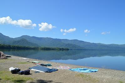 キャンプ場からの屈斜路湖