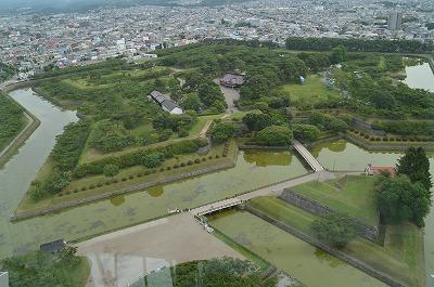 タワーから見た五稜郭