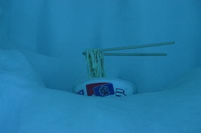 凍るラーメン