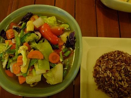 野菜炒め&玄米