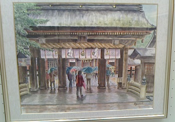 「雨のお参り」上川和子