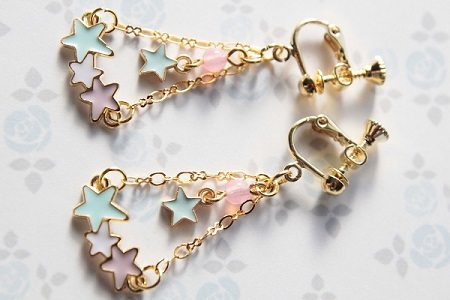 星のイヤリング20140629 - コピー