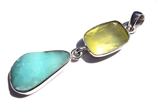 ヘミモルファイト&プレナイト ペンダント ペンダント 天然石 パワーストーン silver 925 27