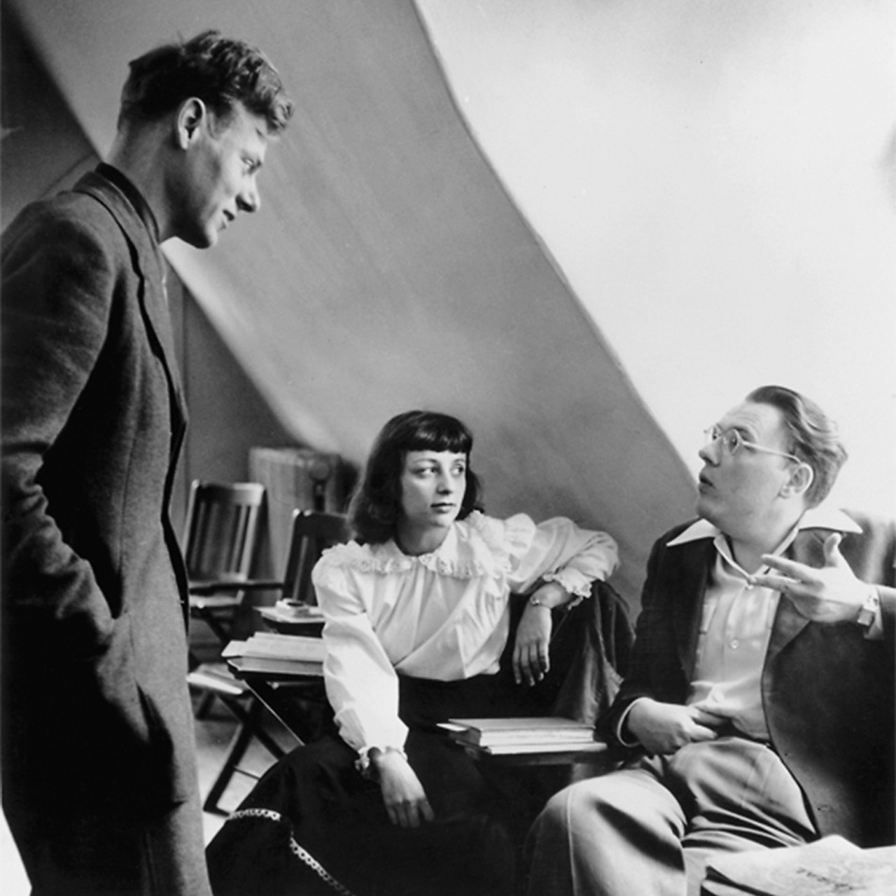 Paul de Man with Renée and Theodore Weiss, Bard College, in 1949