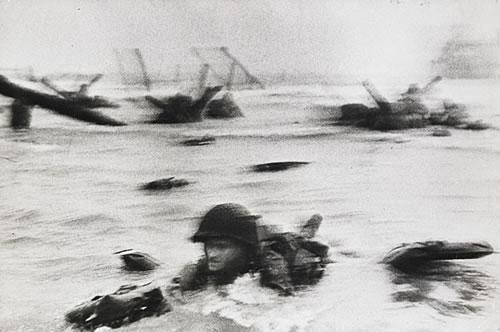 Omaha Beach   Normandy, France [1944]  Photographer- Robert Capa
