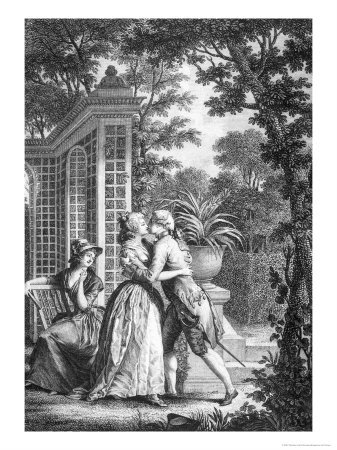 Le premier baiser par Nicolas Monsiau 1761